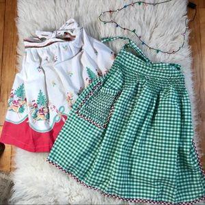 1950's vintage Christmas hostess aprons